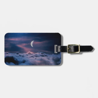 Moon Above the Clouds Bag Tag