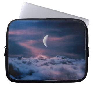 Moon above the clouds laptop sleeve