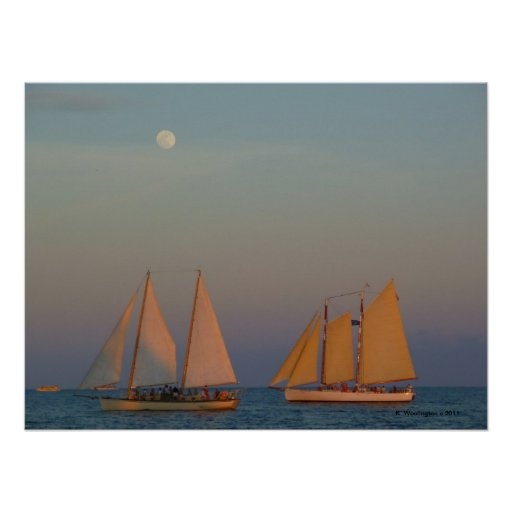 MOON ABOVE THE SAILS POSTER