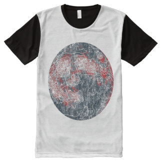 moon All-Over print T-Shirt