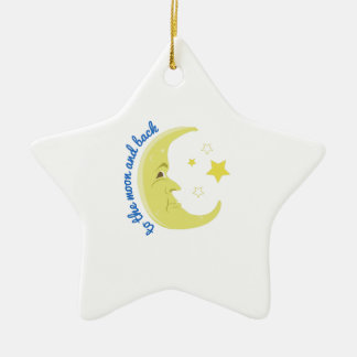 Moon And Back Christmas Ornament