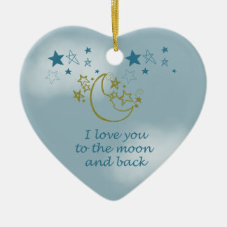 Moon and Back Christmas Ornament
