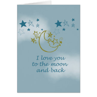 Moon and Back Greeting Card
