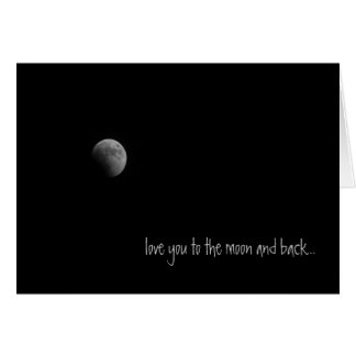 Moon and Back Moon Love Greeting Card