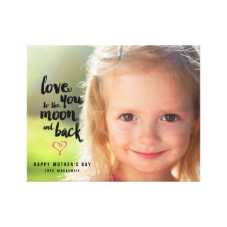 Moon and Back | Mother's Day Photo Canvas Canvas Print