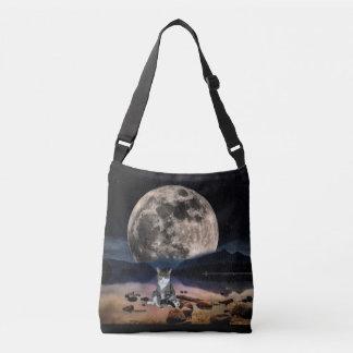 Moon and Cat Cross Body Bag