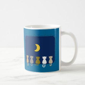 Moon And Cats mug