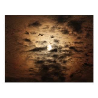 Moon and Cirrus Clouds Postcard