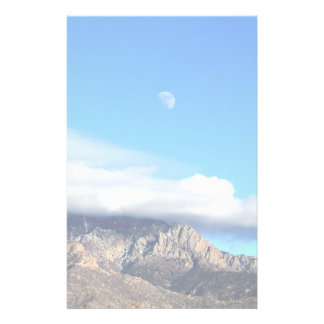 Moon and Clouds Over Sandias Stationery Paper