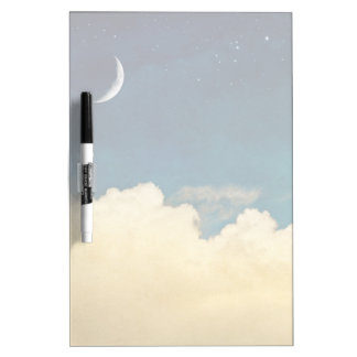 Moon And Cloudscape Dry Erase Board