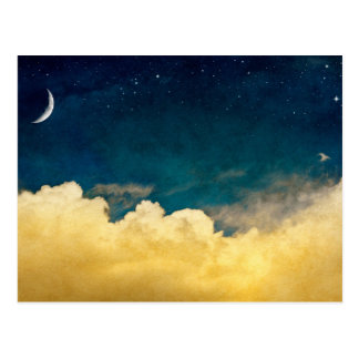 Moon And Cloudscape Postcard