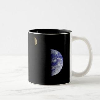 Moon and Earth Two-Tone Coffee Mug