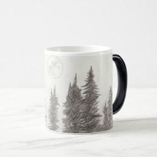 Moon and Forest Coffee Mug