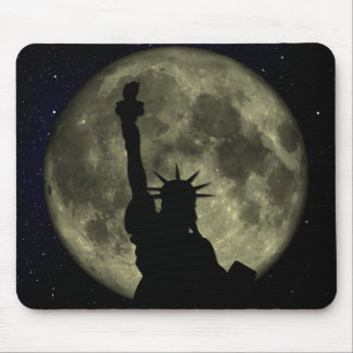 Moon and Lady Liberty Mouse Mat