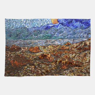 Moon and Landscape Kitchen Towel
