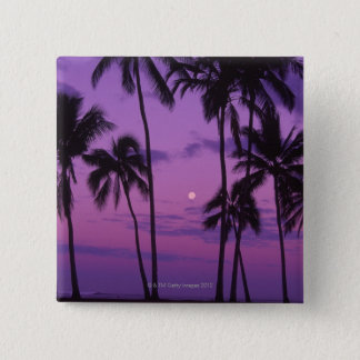 Moon and Palm Tree 15 Cm Square Badge