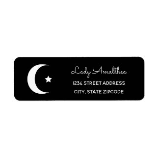 Moon And Star Address Label
