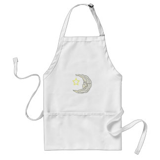 MOON AND STAR APRON