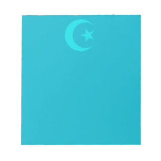 Moon and star blue Islamic Notepad