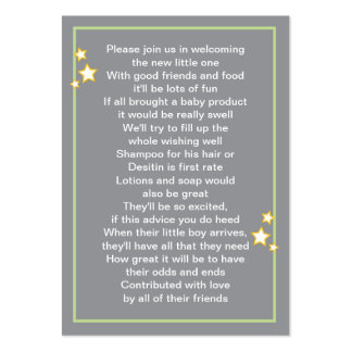 Moon and Stars Baby Product Card Pack Of Chubby Business Cards