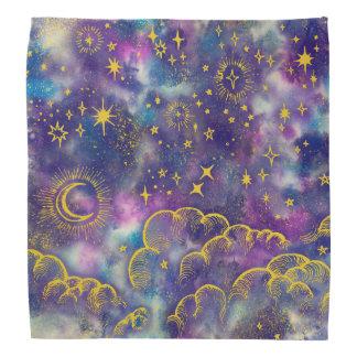 """Moon and Stars"" Bandana (Gold-Etc)"