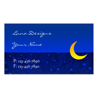 Moon and Stars Business Card Pack Of Standard Business Cards