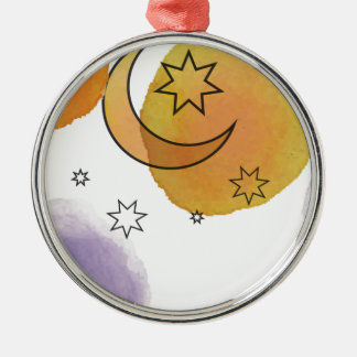 Moon and Stars Christmas Ornament