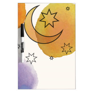 Moon and Stars Dry Erase Board