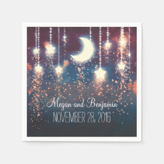 moon and stars enchanted romantic paper serviettes