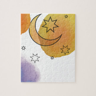 Moon and Stars Jigsaw Puzzle