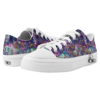"""Moon and Stars"" Low Tops Shoes (Gold-Etc) Printed Shoes"