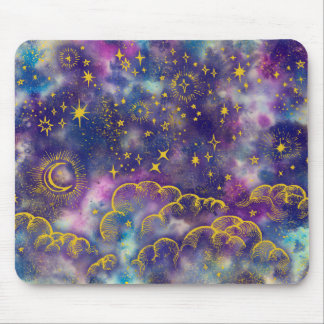 """Moon and Stars"" Mousepad (Gold-Etc)"