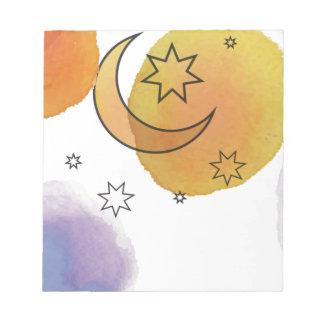 Moon and Stars Notepad