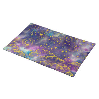 """Moon and Stars"" Placemats 20x14 (Gold-Etc)"
