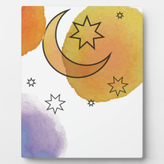 Moon and Stars Plaque