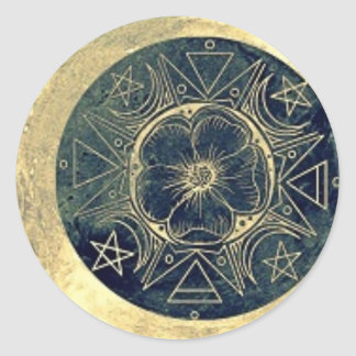 Moon and Stars Talisman Classic Round Sticker