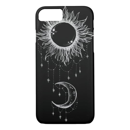 Moon and Sun Boho iPhone 7 Case