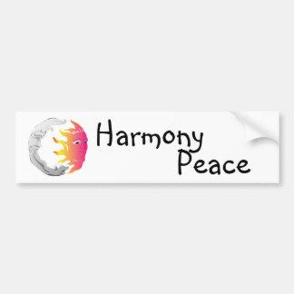 Moon And Sun, Harmony, Peace Bumper Sticker