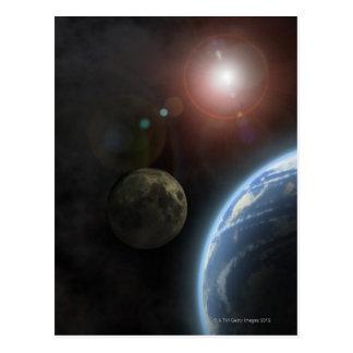 Moon and Sun Postcard