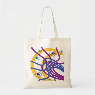 Moon and suns budget tote bag
