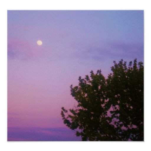 Moon and Tree Print