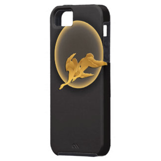 Moon and wild geese tough iPhone 5 case