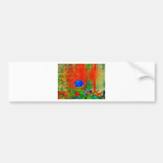 Moon Art | Orange Aroma Bumper Sticker