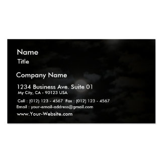 Moon At Night Business Card Template