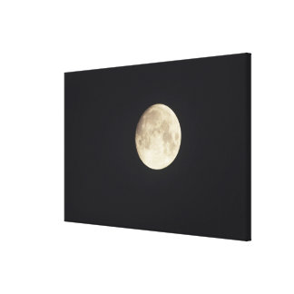 Moon at night canvas print