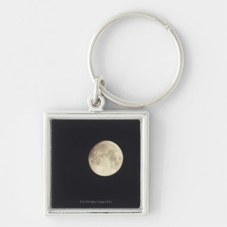 Moon at night key ring