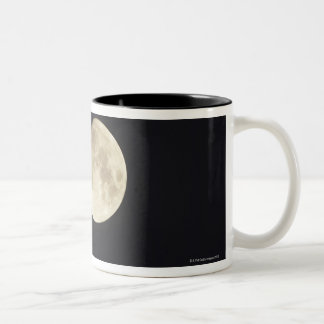 Moon at night Two-Tone coffee mug
