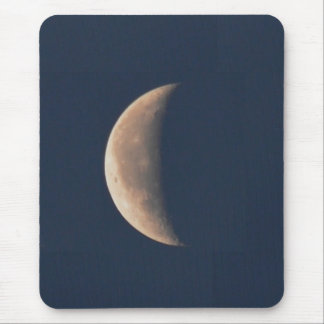 Moon at Quarter Mouse Pad