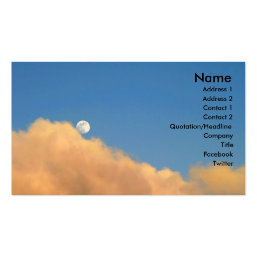 Moon At Sunset Business Cards