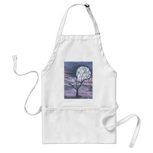 Moon Autumn Leaf Tree Fall Nature Destiny Season Apron